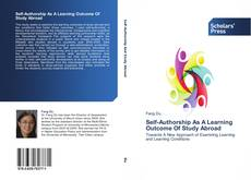 Bookcover of Self-Authorship As A Learning Outcome Of Study Abroad