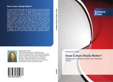 Bookcover of Does Culture Really Matter?