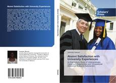 Bookcover of Alumni Satisfaction with University Experiences