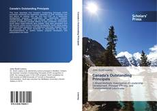Bookcover of Canada's Outstanding Principals