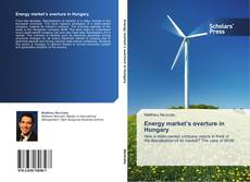Energy market's overture in Hungary kitap kapağı