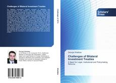 Copertina di Challenges of Bilateral Investment Treaties