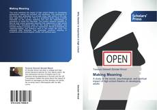 Bookcover of Making Meaning
