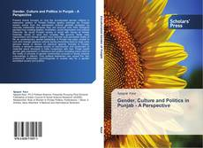 Bookcover of Gender, Culture and Politics in Punjab -  A Perspective