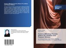 Bookcover of Factors Affecting Poverty Status Of Landless and Peasant Women
