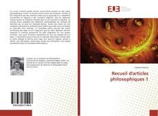 Обложка Recueil d'articles philosophiques 1