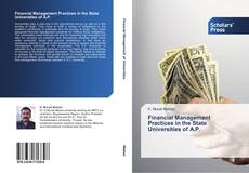 Buchcover von Financial Management Practices in the State Universities of A.P.