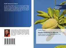 Health Harbored In Nature kitap kapağı