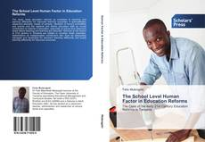 Capa do livro de The School Level Human Factor in Education Reforms