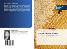 Bookcover of Colony Collapse Disorder