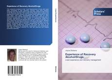 Portada del libro de Experience of Recovery Alcohol/Drugs