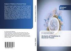 Bookcover of Analysis of Citations in Doctoral Thesis