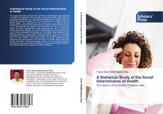 Capa do livro de A Statistical Study of the Social Determinants of Health