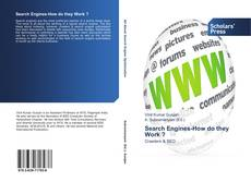 Copertina di Search Engines-How do they Work ?