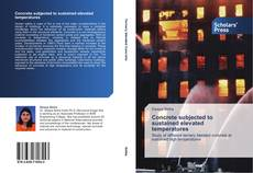 Portada del libro de Concrete subjected to sustained elevated temperatures