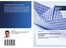 Bookcover of Investigation of Behavior and Analysis