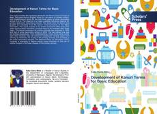 Bookcover of Development of Kanuri Terms for Basic Education