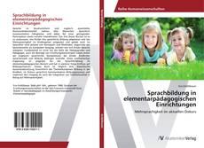 Buchcover von Sprachbildung in elementarpädagogischen Einrichtungen