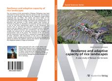 Buchcover von Resilience and adaptive capacity of rice landscapes
