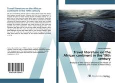 Portada del libro de Travel literature on the African continent in the 19th century