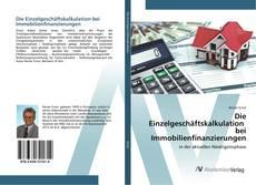 Buchcover von Die Einzelgeschäftskalkulation bei Immobilienfinanzierungen
