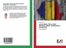 """Couverture de Lucian Boia, """"De ce este Romania altfel"""": traduzione e commento"""
