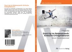 Buchcover von Start-Up im Nebenerwerb: Kritische Erfolgsfaktoren
