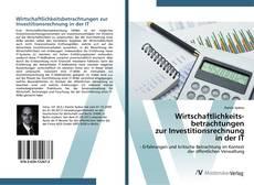 Capa do livro de Wirtschaftlichkeitsbetrachtungen zur Investitionsrechnung in der IT