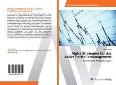 Bookcover of Alpha Strategien für das aktive Portfoliomanagement