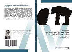 """Portada del libro de """"Machismo"""" als Ursache familiärer Gewalt"""