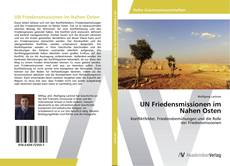 Bookcover of UN Friedensmissionen im Nahen Osten