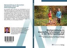 Capa do livro de Werteerziehung im klassischen Schulwesen und in der Reformpädagogik