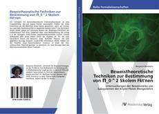 Bookcover of Beweistheoretische Techniken zur Bestimmung von Π_0^2 Skolem Fkt'nen