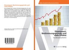 Buchcover von Divestment: Bestimmungsgründe und reale Effekte