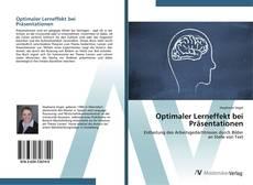 Buchcover von Optimaler Lerneffekt bei Präsentationen