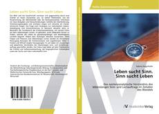 Portada del libro de Leben sucht Sinn. Sinn sucht Leben