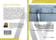 Couverture de Der Nexus von Sicherheit und Entwicklung in der Europäischen Union