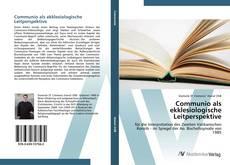 Capa do livro de Communio als ekklesiologische Leitperspektive