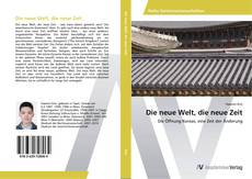 Capa do livro de Die neue Welt, die neue Zeit