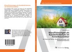 Buchcover von Klassifizierungen als Kundenkriterium im Ferienhaussektor