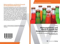Buchcover von Meinungsführer und Word-of-mouth bei Neuprodukteinführungen