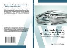 """Nonstandard-Lexik in österreichischen """"Qualitätstageszeitungen""""的封面"""