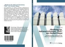 """Bookcover of """"Werbung für Adrianol-Emulsion, 1935"""" von Herbert Bayer"""