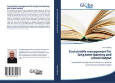 Buchcover von Sustainable management for long term learning and school output