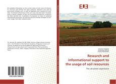 Buchcover von Research and informational support to the usage of soil resources