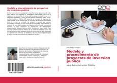 Portada del libro de Modelo y procedimento de proyectos de inversion publica
