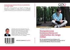 Capa do livro de Competencias lectoescritoras en estudiantes de rango militar