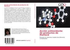 Buchcover von Acción antioxidante de productos de Maillard