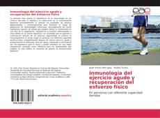 Buchcover von Inmunología del ejercicio agudo y recuperación del esfuerzo físico