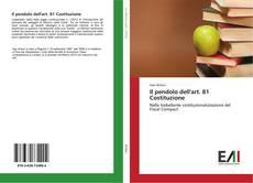Bookcover of Il pendolo dell'art. 81 Costituzione